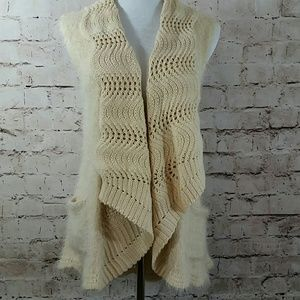 Anthropology Ryu sweater, crochet women's vest